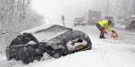 Gausiai iškritęs sniegas lėmė 20 proc. išaugusį avarijų skaičių