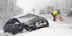 The number of accidents increased by 20 percent due to abundant snow